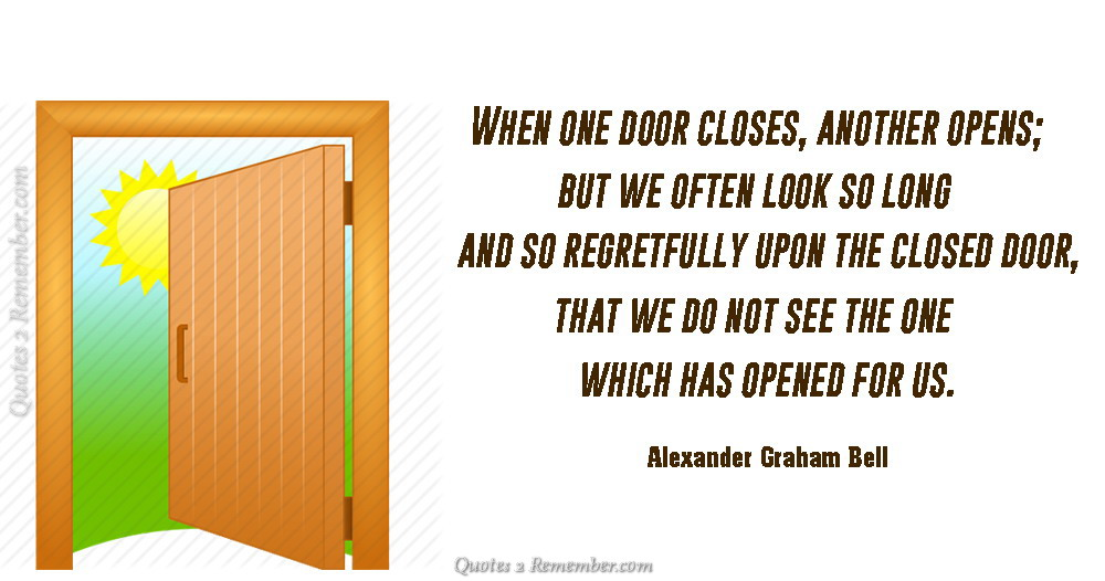 When one door closesu2026  sc 1 st  Quotes 2 Remember & When one door closesu2026 u2013 Quotes 2 Remember