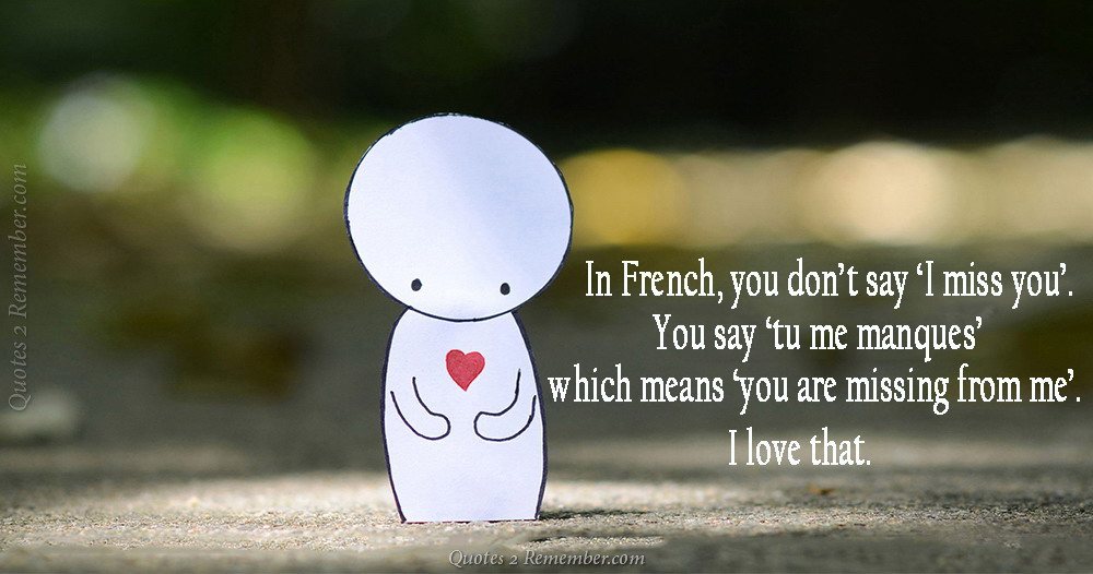 In French, you don't say… – Quotes 2 Remember
